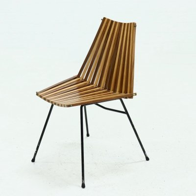 Rare Slat Chair by Rohé, 1960s