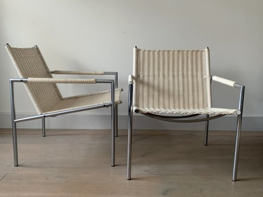 Pair of SZ01 arm chairs by Martin Visser for Spectrum, 1980s