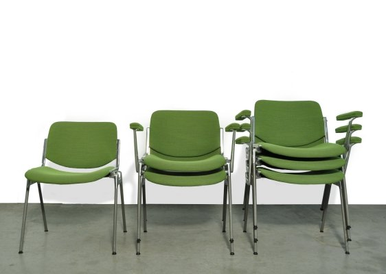 DSC Axis 106 Dining chairs by Giancarlo Piretti for Castelli, Italy 1970s