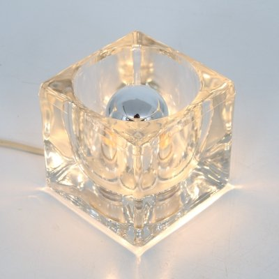 1960s Small glass 'ice cube' lamp by Putzler, Germany