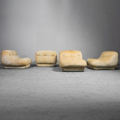Set of 4 Nuvolone lounge chairs by Rino Maturi for Mimo, 1970s