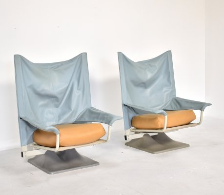 2 x AEO lounge chair by Paolo Deganello for Cassina, 1980s