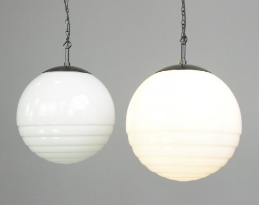 Bauhaus Globe Lights by August Walther And Sohne, Circa 1930s
