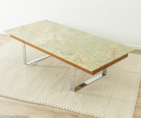 Unique onyx coffee table by Ilse Möbel, 1960s