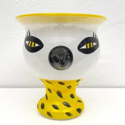 Mouth-blown hand-painted Vase 'Somebody' by Ulrica Hydman Vallien, 1980s