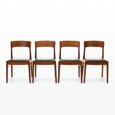 Set of 4 dining chairs by Henning Kjærnulf for Korup Stolefabrik, 1960s