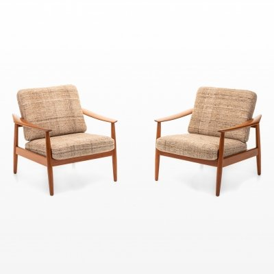 Pair of FD164 lounge chairs by Arne Vodder for Cado, 1960s