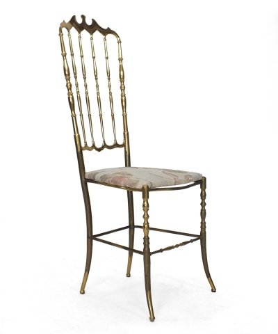 Chiavari chair with floral seating