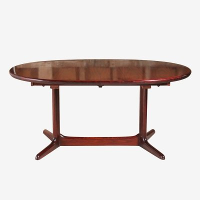 Midcentury Rosewood Extending Dining Table, c.1970