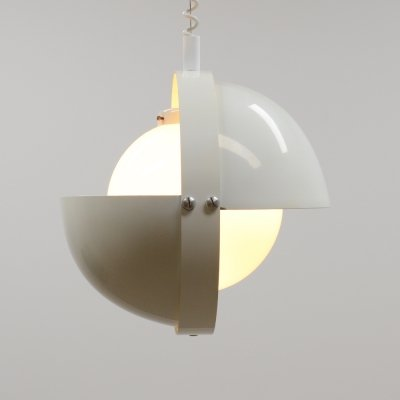 White 'Eclipse' pull down pendant by Dijkstra lampen, 70s