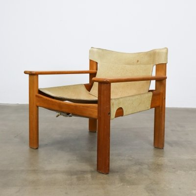 Natura leather lounge chair by Karin Mobring