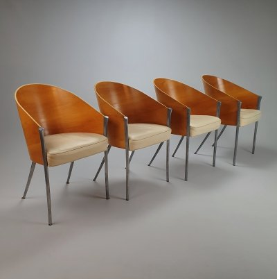 Set of 4 King Costes Dining chairs by Philippe Starck for Aleph, 1980s