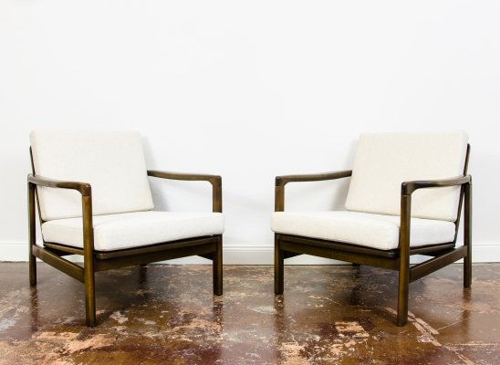 Pair of armchairs B-7522 by Zenon Bączyk, 1960's