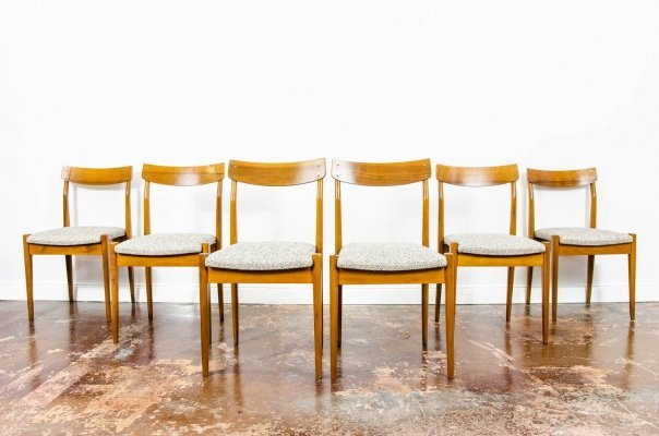 Set of 6 chairs Type 200-206, 1960s
