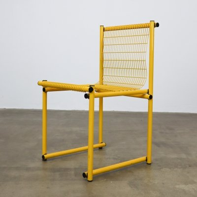 Yellow wire chair, 1980s