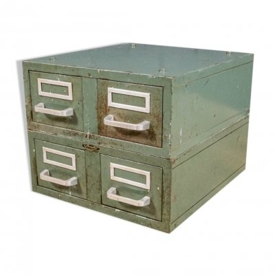 French industial Strafor chest of drawers in metal