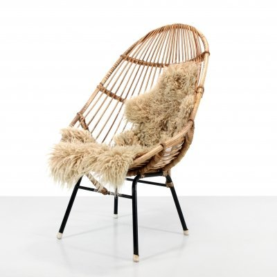 Rattan arm chair by Rohe Noordwolde, The Netherlands 1960s