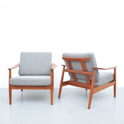 Danish FD164 lounge chair by Arne Vodder for France & Son, 1960s